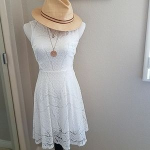 White House Black Market white lace dress